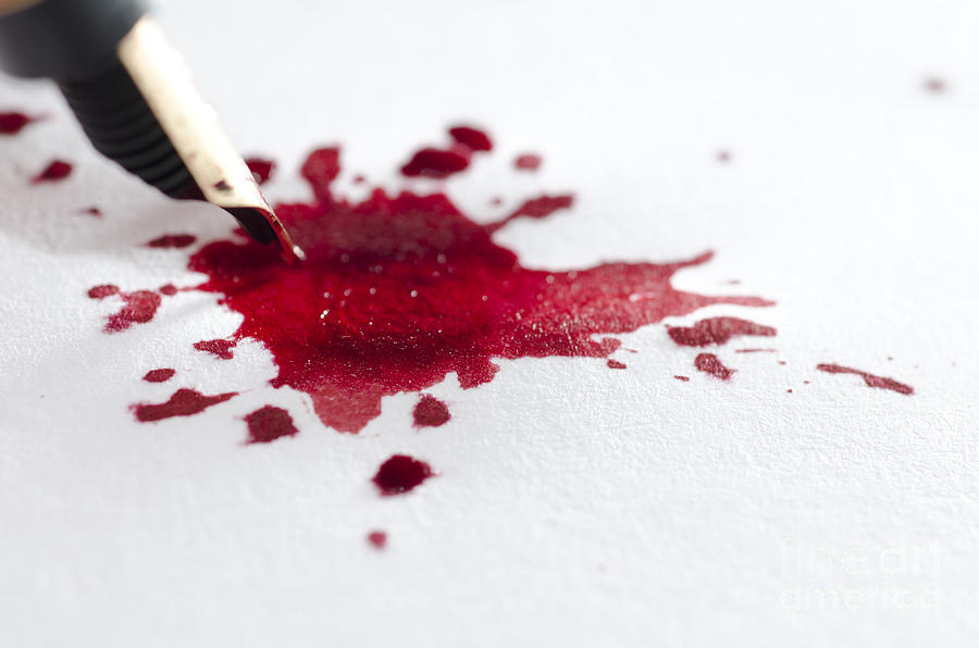 red ink like blood - photo #31