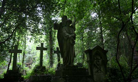 Highgate Cemetery in London, England